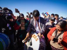 De Uyuni a Orinoca: veja o 2º dia da caravana de Evo pela Bolívia em fotos